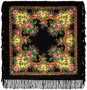 "Pavloposadskie handkerchief ""sunset"""