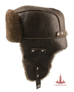 "Cap ear flaps ""Tsigeykovaya brown"""
