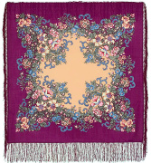 "Pavloposadskie handkerchief ""Evening Garden"""