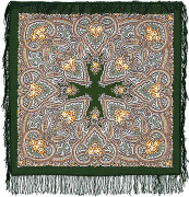 "Pavloposadskie handkerchief ""Jasper"""