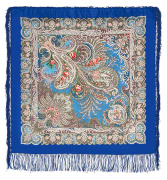 "Pavloposadskie handkerchief ""the blue sea"""