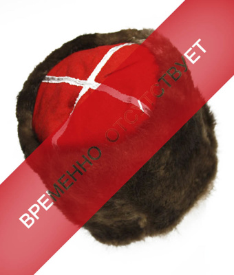 "A hat ""Beaver""   The original high winter hat made of beaver natural maha with internal vatinovym filling on the soft frame. The upper part of the hats made of natural wool cloth embroidered with red and silver braid with perforated piping.  In pre-Petrine Russia hats made from beaver fur, is considered an attribute of power Boyar later fur bean used the very wealthy merchants and members of the upper class, including the elected representatives of the Cossack gatherings.   Yemelyan Pugachev as an attribute of the royal position wearing a beaver fur hat with purple top, embroidered with silver braid.   If you want to make an original gift for lovers of individuality and beauty, this headgear is the perfect choice of your intentions."