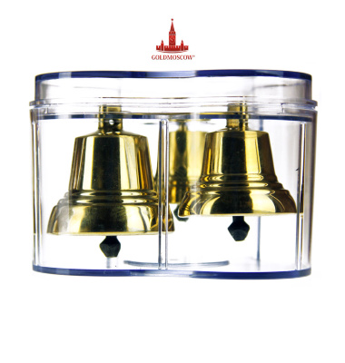 "A set of bells ""Troika""   The original gift set Valdai bells, packed in special transparent box shaped form. Bells in the set are a perfect polyphony overflow with distinctive bell tower, the tone of which is supported by multiple resonant sound. The set presents the polished alloy Valdai bells size №2, №3 and №4. Do beautiful and a nice gift for a loved one. The kit can be present for a wedding, a birthday or just a regular weekday rainbow adorning his sonorous overflow."