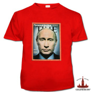 T-shirt with Putin «Putin Time» Red