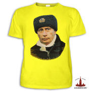 "T-shirt with Putin ""Commander in Chief"""