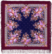 "Pavloposadskie shawl ""Pavlovsk Rose"""