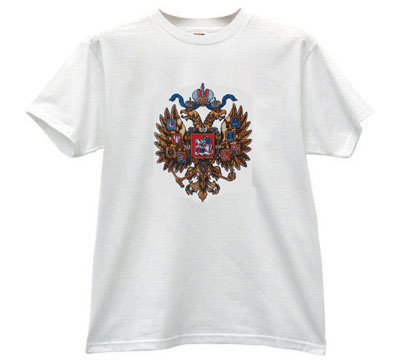 "T-shirt ""Russian coat""   If you suffer from nostalgia for the Soviet Union, the T-shirt ""Coat"" - a thing that can remind of the past. All the T-shirts that offers Internet-shop « GoldMoscow » made of high-quality fabrics. When applied to the figure used only modern technology"