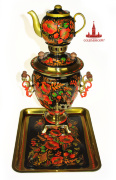 "Samovar Set ""Poppies"""