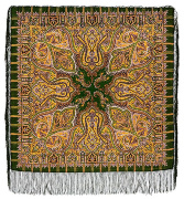 "Pavloposadskie handkerchief ""Saffron"""